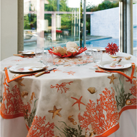 Corail Red Table Linens