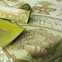 Giardino Green Table Linens
