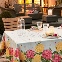 Hortensias Orange/Red Table Linens