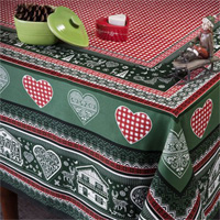 Gstaad Green Table Linens