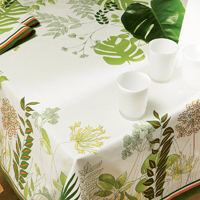Agapanthes Green Table Linens