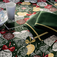 Christmas Green Table Linens