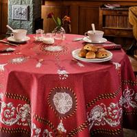 Voltaire Aubergine Table Linens