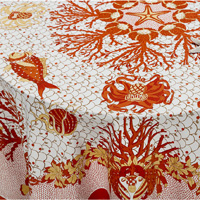 Aquarius Coral Table Linens