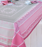 Garnier Thiebaut Roses Anciennes Table Linens | Gracious Style