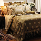 Rossignol  Embroidered Bedding by Anali | Gracious Style
