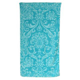 Royal Damask Aqua Cotton Bath Towels by Fresco | Gracious Style