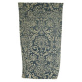 Royal Damask Dusty Blue Cotton Beach Towel by Fresco | Gracious Style