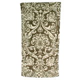 Royal Damask Grey/Ivory Cotton Bath Towels by Fresco | Gracious Style