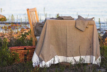 Linen Way Serenite Natural Table Linens | Gracious Style