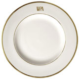 Pickard Signature Monogram China Gold | Gracious Style