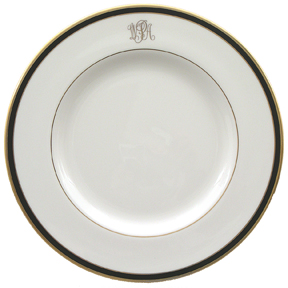 Pickard Signature Monogram Black China | Gracious Style