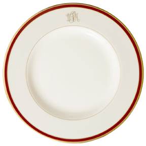 Pickard Signature Monogram Burgundy China | Gracious Style
