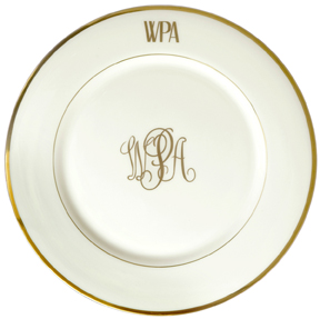 Personalized Fine China Dinnerware Monogramming | Gracious Style