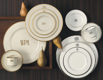 Pickard Signature Monogram China Platinum | Gracious Style