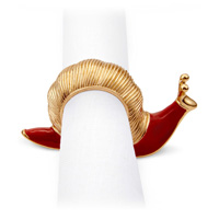 Snail Gold Napkin Rings - Four