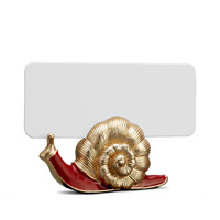 Snail Gold Placecard Holders, Six