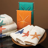 Starfish Embroidered Towels by Anali | Gracious Style