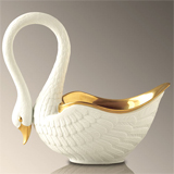 White Swan Serving Bowl by L'Objet | Gracious Style