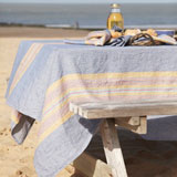 Tahoe Striped Tablecloths, Napkins, Table Runners &#124;Gracious Style