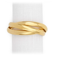 Three Rings Gold Napkin Rings