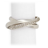 Three Rings Platinum Crystal Napkin Rings