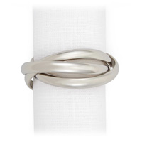 Three Rings Platinum Napkin Rings