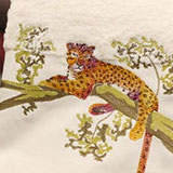 Tree Jaguar Bath Towels Embroidered | Gracious Style