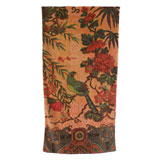 Tropical Peacock Blush Cotton Bath Towels by Fresco | Gracious Style