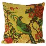 Tropical Peacock Lime Large Pillow by Fresco Towels | Gracious Style