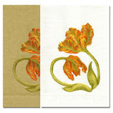 Tulip Embroidered Linen Hand Towels | Gracious Style