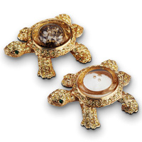 Turtles Gold Salt & Pepper Shakers