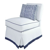 Upholstered Slipper Chair by oomph | Gracious Style