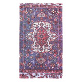 Versaille Rug Blue Cotton Bath Mats by Fresco | Gracious Style