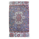 Versaille Rug Blue Cotton Bath Towels by Fresco | Gracious Style