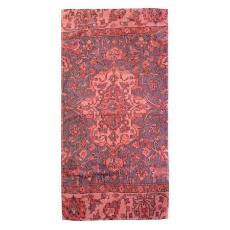 Coral color bathroom rugs