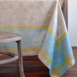 Linen Way Versailles Silver&#47;Aqua Table Linens &#124; Gracious Style