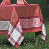 Linen Way Versailles Coral&#47;Gold Table Linens &#124; Gracious Style