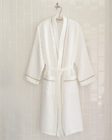 Waffle Bath Robe by Peacock Alley | Gracious Style