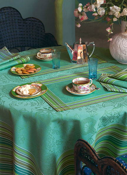 Richesses des Indes Turquoise Table Linens