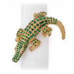 Crocodile Gold Four Napkin Rings | Gracious Style